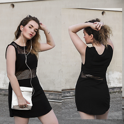 Rachel Ecclestone - Sheinside Mesh Dress, Smk Bag - S M K || INSTAGRAM GIVEAWAY!