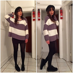 Paula Gallagher - T.U.K. Footwear Creepers, Urban Outfitters Oversized Sweater - Summer San Francisco