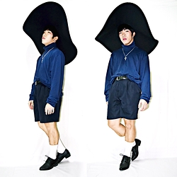 Rafa Concepcion - H&M Wide Floppy Brim Hat, Splash Turtle Neck, New Yorker Shorts, Max&Co. Studded Shoes - Emotion overflow
