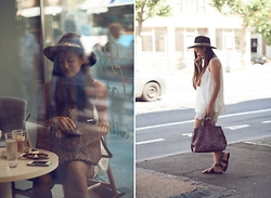KaoriAnne Jolliffe - Forever 21 Hat, Zara Bag, Zara Sandals - CITY COFFEE BREAK