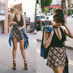 Kacie Cone - Free People Sacramento Clog, Free People Moon Beam Choker, Novella Royale Jackson Mini Skirt, Urban Outfitters Perfect Halter Top - Light My Fire