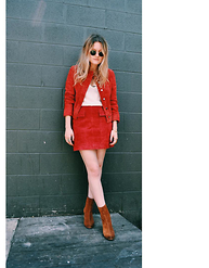 Kirby C - Zara Jacket, Zara Skirt, Free People Boots - Suede