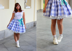 Giru Party - Angelic Pretty Lady Gingham, New Look Shoes - ♪ Will I catch up to love ♪ I can never tell ♪