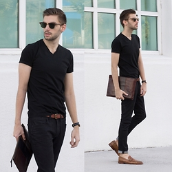 Aaron Wester - Express Denim, Club Monaco T Shirt - Dark Night