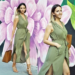Manuella Lupascu - She In Dress, Choies Gladiator Sandals, Michael Kors Bag - Army vs Gladiator