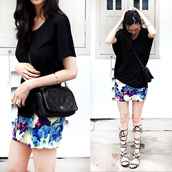 Audrey Tan - New Dress Floral Skort, Chanel Wallet On Chain - Floral Beginnings