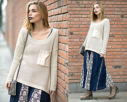 Didi Ibarra Rake - Camote Soup Maxi Cardigan, Camote Soup Dress, Michael Kors Handbag, Valier Store Earrings - Sunday Apparel