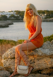 Tijana J.D - Primark Playsuit, H&M Bracelet, Mango Sandals, Mango Bag - Sun-kissed