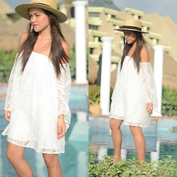 Gaby Gómez MODA CAPITAL - Shein Dress - White summer