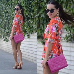 Gaby Gómez MODA CAPITAL - Shein Jumpsuit, Kate Spade Bag, Schutz Shoes - Red ROMPER!