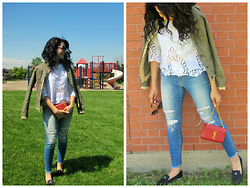 Well-Put-Together WPT - Joe's Jeans, Chanel Flats, Saint Laurent Bag, Burberry Sunglasses, Red Valentino Jacket - Summertime