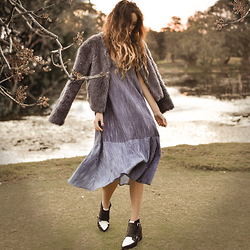 Elle-May Leckenby - Two Tone Swing Dress, Favourite Boots In The World - You wear those shoes and I will wear that dress, oohh