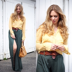 Irina Tschatchina - Zara Pants, Vintage Blouse, Fendi Bag - BIg ' Liebeskind' Giveaway on the blog