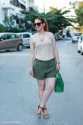 Call me M - H&M Shorts, Jonak Paris Wedges - Baby it's HOT outside