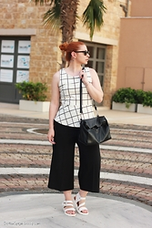 Call me M - Sfera Peplum Top, Zara Culottes, Zara Lunch Bag - Minimal in culottes
