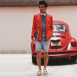 Pablo Solano -  - Denim & Red