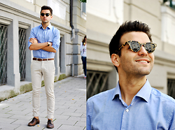 Marc Galobardes - Han Kjobenhavn Sunglasses, Tailor4less Shirt, Zara Trousers - CLASSIC