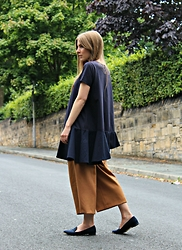 Angharad Jones - Cos Top, Zara Culottes, Carvela Flats - Ruffled Tee