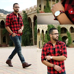 Nabil Asserghine - Shirt, Watch, Contact Me - RED TOUCH ♥