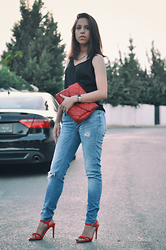 Linda Pavlovic - Zara Ripped Jeans, Mango High Heels, Bershka Cluch Bag, H&M Accesoirize, H&M Necklace - High Heels , High Standards