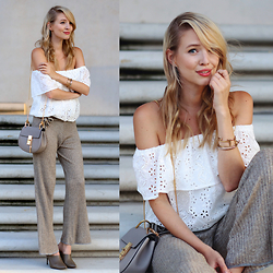 Leonie Hanne - Zara Knitted Pants, Chicwish Lace Top, Chloé Drew Bag, Zara Heels - LACE & KNIT | ohhcouture.com