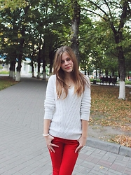 N-natalisha -  -  white & red
