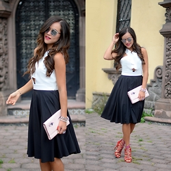 Gaby Gómez MODA CAPITAL - Shein Crop Top, Kate Spade Clutch, Shein Skirt, Schutz Heels, Dior Sunglasses - New week!