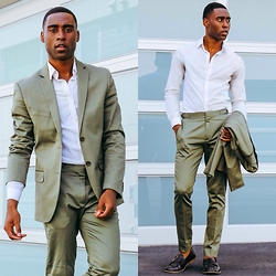 Willie Sparks - H&M Shirt, H&M Blazer, H&M Trousers, Topman Shoes - Green Machine