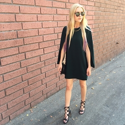 Heather Norgord - Forever 21 Cape Dress, Bcbgeneration Lace Up Heels - THE Cape Dress