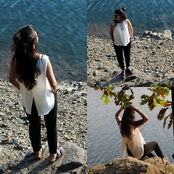Kainat Mohammad - Primark Blouse, New Look Pants, Birkenstock Shoes - Seaside