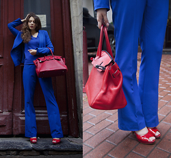 Helena Ivanova - Laura Scott Paintsuit, Tj Collection Shoes, Hermès Bag - Travel Outfit from Moscow