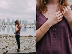 Nicole Buhler - Kimchi Blue Shirt, Free People Jeans, Town Shoes, Brandy Melville Necklace, Brandy Melville Bracelet - Vancouver Vibes