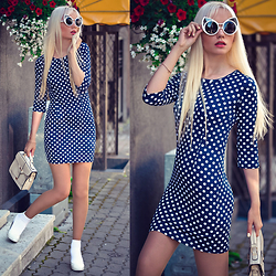 Oksana Orehhova - Freyrs Sunglasses, Oceanfashion Bag - HOT POLKA DOT