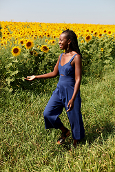 Tipa Tipa - Forever 21 Jumpsuit, Chinese Laundry Sandals - We're All Golden Sunflowers on the Inside