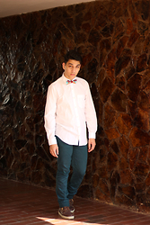 Alex Montilla - Geeks By Barbados Bowtie, Zara Colored Trousers, Timberland Boots - Geektie