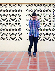 Alex Montilla - Forever 21 Plaid Shirt, Mac&Dale Raw Denim, Timberland Boots - Forever Plaid
