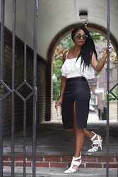 Monroe Steele - Zara Top, L'agence Skirt, Alexander Wang Shoes, Spitfire Sunglasses - A Night on The Town