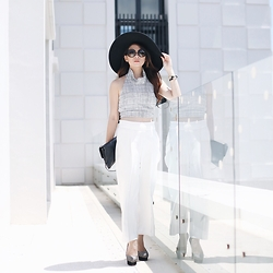Anastasia Siantar - Thea By Thara Between Crossroads Adjustable Top, Zara Pants, Charlotte Olympia Shoes, Prada Sunnies - Between crossroads