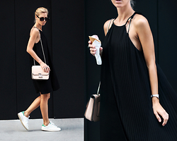 Sirma Markova - Mango Dress, 27jewelry Ring, Casio Via Fashion Dys Watch, Parfois Bag, Adidas Sneakers, Stradivarius Sunglasses - Back to Black