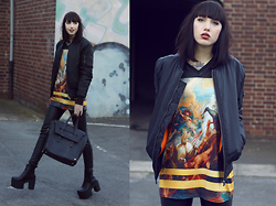 Jane Dean - Urban Classics Bomberjacke, Black Milk Clothing Shirt, Bag - Bad is the new good.