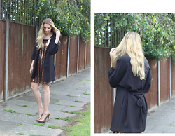 Laura Rogan - H&M Jacket, Madam Rage Dress, Usc Shoes - Kimono cuts and Sequins