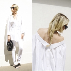 Emma Easton - Brooks Brothers Chemise, Asos Jean Blanc, Asos Mules - MIX AND MATCH : 2 WHITE SHIRTS
