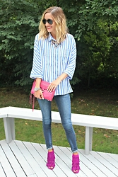 Michelle Orsi - Baublebar Necklace, Shein Top, Rebecca Minkoff Bag, Zara Jeans, Steve Madden Shoes - Masculine & Feminine