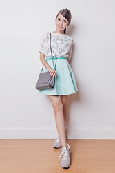 Tricia Gosingtian - Just G Top, Just G Skirt, Lapalette Bag, New Balance Shoes - 091415-2