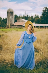 Mariah Alysz - Vintage Dress, Charlotte Russe Hat - Wedding Guests
