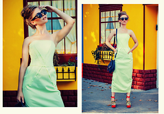 Maria Braicova - Nikita Rinadi Dress, Nobrand Bag, Onlineshop Taobao Shoes, H&M Glasses - ColorizedU