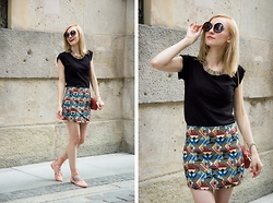 Joanna B - New Yorker T Shirt, Zara Skirt, Parfois Shoes - Goodbye Boho Summer