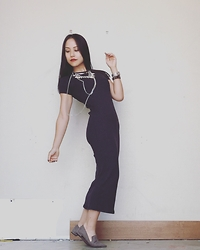 Jade T - Zara Knit Dress, Zara Loafers - Minimalist Glam