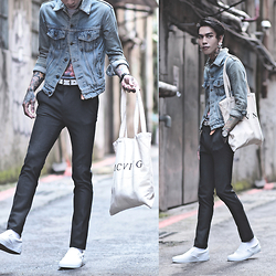 IVAN Chang - Asos Superskinnysuit, Vans Shoes, Mcving Bag, Levi's® Vintage Jacket, Klasse14 Watch - 160915 TODAY STYLE