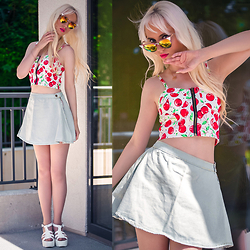 Oksana Orehhova - Dresslink Skirt, Dresslink Top, Oceanfashion Necklace - CHERRY SUMMER